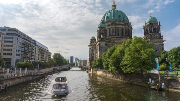 Berlin cathedral and river spree
